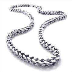 KONOV Jewelry Mechanic Style Stainless Steel Mens Necklace Link Chain - Color Silver - Length 22 inch (with Gift Bag) - http://www.styledetails.com/konov-jewelry-mechanic-style-stainless-steel-mens-necklace-link-chain-color-silver-length-22-inch-with-gift-bag - http://ecx.images-amazon.com/images/I/41ZpwLjOUwL.jpg