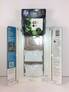 Hp 62 Xl Tri Color Ink Cartridges X2 Black Cartridge X1