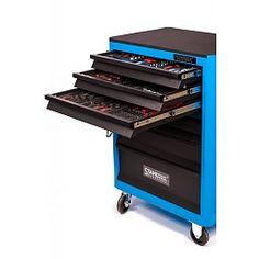Stahlmayer Gereedschapwagen FX inclusief 4 laden gereedschap Blauw