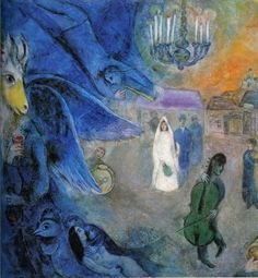 "Marc Chagall - ""The Wedding Lights"". 1945 year"