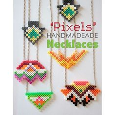 Necklaces perler beads by  easilynerd