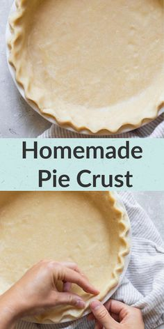 An easy tutorial on how to make your own homemade pie crust! This recipe uses just a few simple ingredients and turns out perfect every single time.This post also includes several different ways that you can use this pie crust recipe! #piecrust #recipe #livewellbakeoften Homemade Pie Crusts, Pie Crust Recipes, Tart Recipes, Homemade Desserts, Delicious Desserts, Baking Recipes, Dessert Recipes, Baking Basics, Cheesecake Desserts