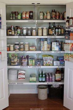 Organisation Hacks, Organizing Ideas, Kitchen Organization, Organizing A Pantry, Organising, Kitchen Pantry, Diy Kitchen, Kitchen Decor, Kitchen Cleaning