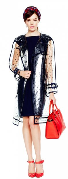 GREAT STYLING OF THE CLEAR POLKA DOT TRENCH !! DISCOVER IT ON : http://www.whowhatwear.com/look-of-the-day-clear-cut
