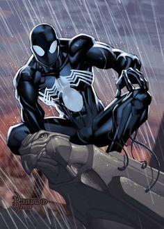Symbiote Spider-Man by Ryan Kinnaird (Marvel comics) Black Spiderman, Amazing Spiderman, Spiderman Art, Spiderman Symbiote, Marvel Comic Books, Comic Book Characters, Marvel Characters, Comic Character, Comic Books Art