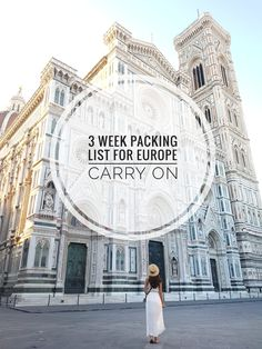 Hello and welcome back! Today I'm sharing my 3 week carry-on packing list for Europe! If you haven't already tried travelling with just a carry-on it's a total game changer, especially in Europe. Italy Packing List, Summer Packing Lists, Carry On Packing, Packing For Europe, Packing List For Vacation, Backpacking Europe, Travel Packing, Packing Tips, Travel Hacks