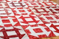 quilt blocks. Does every quilt pattern look good in red and white or is it just me