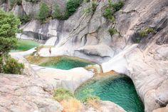 Wild swimming france: Cascades de Purcaraccia in Corsica Europe Travel Tips, Travel Destinations, Europa Tour, Reisen In Europa, Voyage Europe, Destination Voyage, Corsica, France Travel, Wonders Of The World