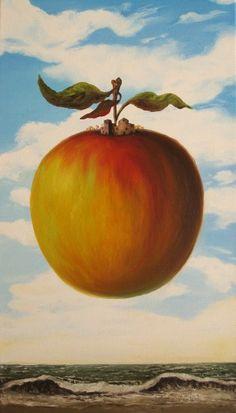 """Peach House"" oil on canvas. 26 x 18 inches. 2009"