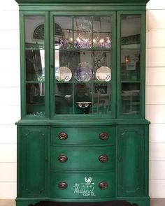 Green China Cabinet Makeover Green China Cabinet Makeover The Weathered Vane Co theweatheredvaneco The Weathered Vane Co Antique china cabinet makeover Refinished in nbsp hellip cabinet makeover Refinished China Cabinet, Antique China Cabinets, Painted China Cabinets, Painted Hutch, China Cabinet Makeovers, Repurposed China Cabinet, Farmhouse China Cabinet, Green Painted Furniture, Chalk Paint Furniture