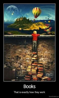Books can take you places you can't afford to go to, and can inspire you to do great things.