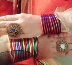Cute Girl Poses, Cute Girls, Simple Arabic Mehndi Designs, Health And Fitness Tips, Bangle Set, Indian Designer Wear, Class Ring, Jewels, Bracelets