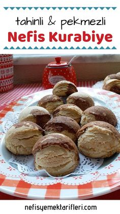 Delicious cookies with tahini and molasses (full size) – yummy recipes - Kekse & Plätzchen Yummy Recipes, Cookie Recipes, Yummy Food, Yummy Cookies, Cupcake Cookies, Tahini, Molasses Recipes, Wie Macht Man, Beautiful Cakes