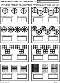 Mixed Numbers | Models, Children and Fractions worksheets
