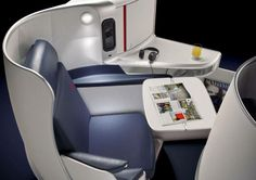 Air France's new Boeing 777 business class seats:  Air France has launched its new international Boeing 777 business class seats in Paris overnight, ahead of its first flight in June 2014 between Paris and New York.