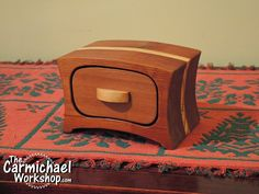 Bandsaw boxes make great gifts.  There are free PDF templates for this one and more on my website.  Don't forget to put a little surprise in the drawer!