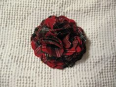 like the idea of using plaid, but not this style flower