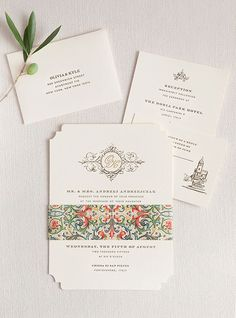 Romantic Portovenere Italy Destination Wedding, Classic Wedding Invitation with Colorful Band | Brides.com