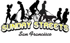 Sunday Streets are events that encourage recreation, community activities and fun in San Francisco. Sunday Streets closes stretches of city streets to automobile traffic, and opens them to people for several hours on a various Sundays throughout the year, so participants can enjoy a large, temporary, public space where they can bike, walk, run, dance, do yoga, or do any other physical activity.