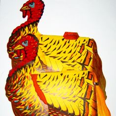 2 vintage Beistle honeycomb turkeys Thanksgiving decorations by sweetalicelovesyou on Etsy