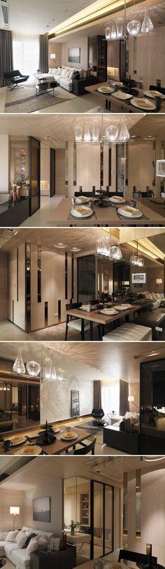 Contemporary Design + Architecture Interior ::Fantasia interior living and dining Estilo Interior, Contemporary Interior, Kitchen Contemporary, Contemporary Architecture, Küchen Design, House Design, Design Case, Design Homes, Design Ideas