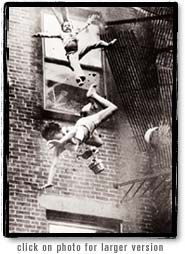 On July 22, 1975, photographer Stanley J. Forman rushed to the scene of a fire in Boston. A young woman, Diana Bryant, and a very young girl, Tiare Jones were seeking help. At the very instant the ladder reached them, the fire escape gave way. Bryant was pronounced dead at the scene. The young girl lived. Photo coverage from the tragic event garnered Stanley Forman a Pulitzer Prize. But more important, his work paved the way for Boston and other states to mandate tougher fire safety codes.