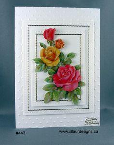 Stunning 3-D hand-cut roses. by www.allaurdesigns.ca