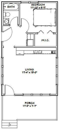 18X30 TINY HOUSE -- 540 sq ft -- PDF Floor Plan - Model 5G - $29.99 | PicClick