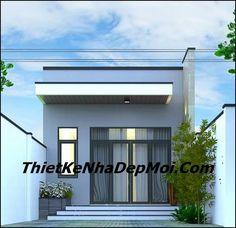 mau nha cap 4 5x20 2 phong ngu Small House Layout, House Layouts, My House Plans, Narrow House, House Elevation, Story House, Facade House, Modern House Design, Ground Floor