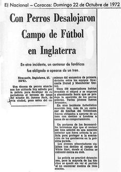 Con perros desalojaron a los aficionados de un equipo en Inglaterra Publicado el 22 de octubre de 1972