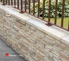 Capeamento Rústico  Revestimento de betão - SIENA  -- Rustic Capping Concrete Coating - SIENA