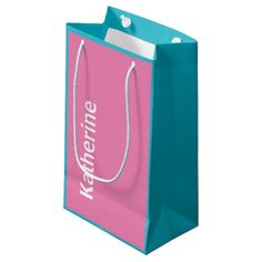 Beautiful personalized pink and blue gift bag small gift bag