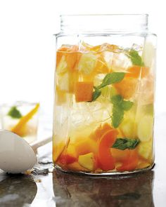 Combine Fresca, white wine, and fresh fruit such as peaches, strawberries and grapes.  It's like sophisticated sangria without all the work.