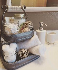 After months of waiting, our popular petite serving tier is back! We love the way Cristen @lifeoncoombscreek styled hers on her bathroom vanity. Grab yours at the link in our profile.
