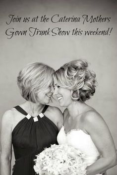 Join us at Wedding Angels Bridal Boutique on March 22nd-24th for the Catarina Mothers Gown Trunk Show! www.weddingangels.com