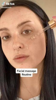Haut Routine, Facial Tips, Facial Yoga, Face Exercises, Skin Care Routine Steps, The Face, Face Massage, Skin Care Remedies, Face Skin Care