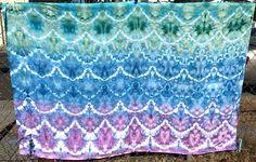 Mermaid Baby Swaddle | mermaid baby blanket cotton muslin baby blanket baby swaddle blanket mermaid baby shower gift hand dyed baby blanket