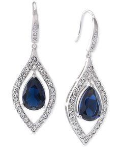 Carolee Silver-Tone Crystal Teardrop Earrings - Jewelry & Watches - Macy's