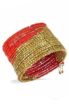Hot Summer Fashion That Won't Burn Your Budget: The carefree-cool look of an armful of bracelets in one easy-to-slip-on cuff.  Bracelet, $45; rosenasammi.com (25% off with code REDBOOK25).