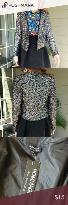 NEW Sequinned Blazer New with tag. Size M. Same day shipping. Bundle discount 20% for 3 items. Hommage Jackets & Coats Blazers