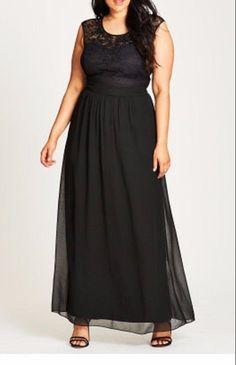 City Chic Womens Black Beaded Lace Maxi Dress Size Small (16) #CityChic #Maxi #Festive