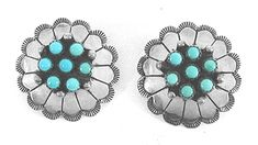 Turquoise Cluster Post earrings E554 Vintage Earrings, Vintage Jewelry, Matrix Color, Native American Earrings, American Indian Jewelry, Native American Indians, Vintage Shops, Turquoise, American Indians