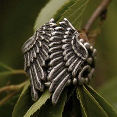 Silver Folded Wings Ring by ragtrader on Etsy, $18.50