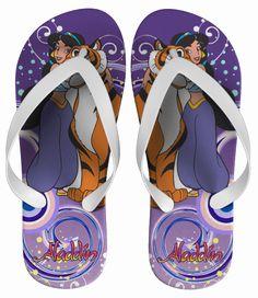 Chinelo Aladin e Jasmine Personalizado