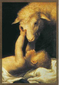 virgin holding the lamb - Google Search Baby Jesus, Lamb, Catholic, Elephant, God, Painting, Animals, Image, Religious Pictures
