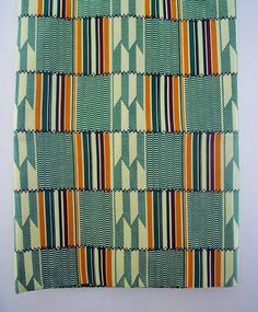 Kente African Print Fabric (sold by the yard). £3.99, via Etsy.