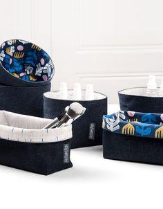 Ablage-Box aus Stoff. Für Deine Utensilien in Bad, Bastelecke & Küche. // Vide-poche pour tes petits ustensiles à la salle de bain, ton coin bricolage & ta cuisine.