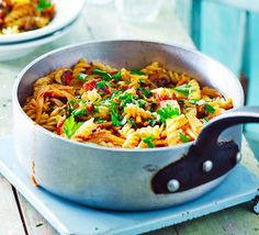 Delicious pasta dishes from classic spaghetti Bolognese to easy salmon linguine. Find the perfect pasta recipe for any occasion, only at BBC Good Food. Fusilli Recipes, Healthy Pasta Recipes, Bbc Good Food Recipes, Bacon Recipes, Easy Cooking, Cooking Recipes, Perfect Pasta Recipe, Budget Meals, Budget Recipes