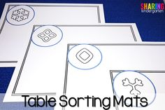 Table sorting mats f