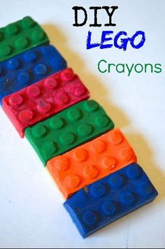 Kid Inspired. Kid Created. DIY LEGO themed Crayons - recycle your old bits & make new gifts, party favors, and back to school classroom fun!